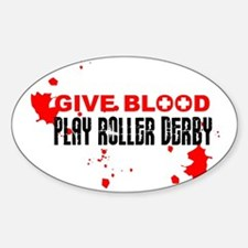 give blood Sticker (Oval)