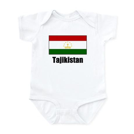 Tajikistan Flag T Shirts Infant Bodysuit