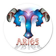 AriesNewspaceBrT-9 Round Car Magnet