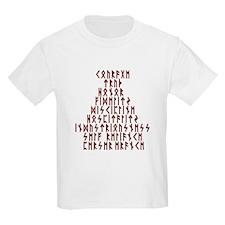 Runic Virtues Kids T-Shirt
