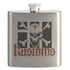 IH Kustoms Logo Large Flask