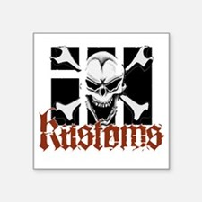 "IH Kustoms Logo Large Square Sticker 3"" x 3"""