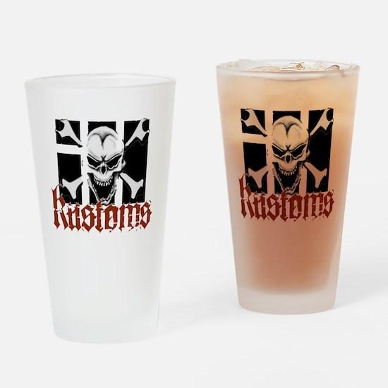 IH Kustoms Logo Large Drinking Glass