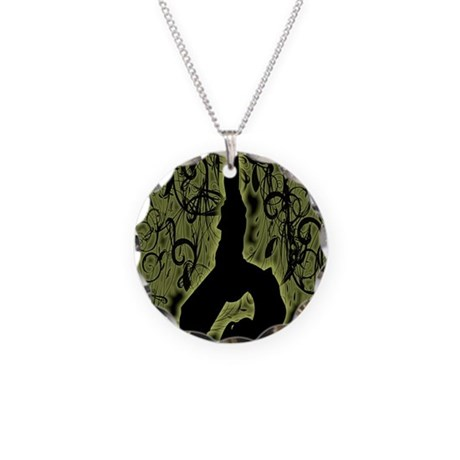 9X12YOGA1112 Necklace Circle Charm