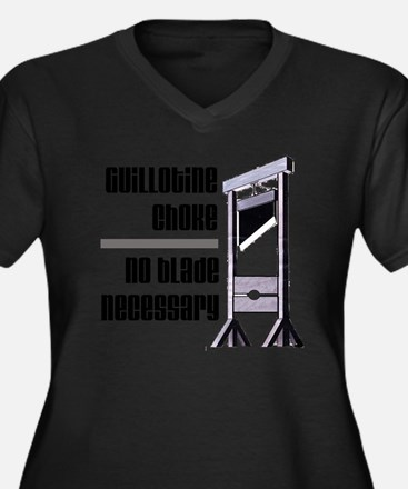 guillotine Women's Plus Size Dark V-Neck T-Shirt