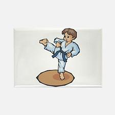 Karate Little Boy Rectangle Magnet