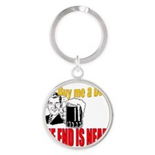 ART Bachelor party Round Keychain