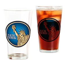 New York Gold Dollar Drinking Glass