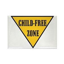 Child-Free Zone Rectangle Magnet