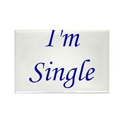 I'm Single Rectangle Magnet (10 pack)