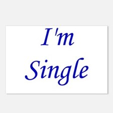 I'm Single Postcards (Package of 8)