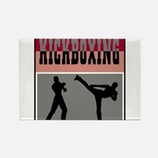 Kickboxing Logo Rectangle Magnet