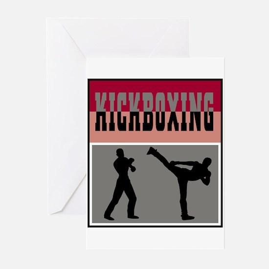 Kickboxing Logo Greeting Cards (Pk of 10)