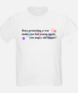 """""""Young Again Angry Hippie""""  Kids T-Shirt"""