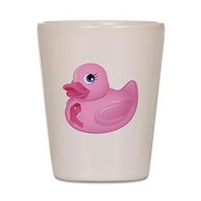 Pink Rubber Duck Shot Glass