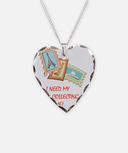 Stamp Collecting Time Necklace
