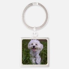 Trinket in the Grass Square Keychain