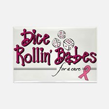 Dice Rollin Babes Rectangle Magnet