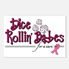 Dice Rollin Babes Postcards (Package of 8)