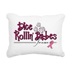 Dice Rollin Babes Rectangular Canvas Pillow