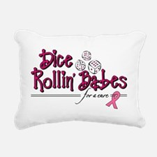 Dice Rollin Babes Rectangular Canvas Pillow