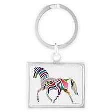 My Rainbow Horse with Logo Landscape Keychain