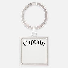 captain 4 white Square Keychain