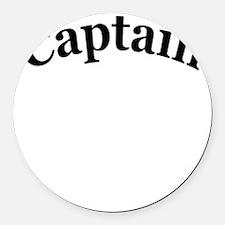 captain 4 white Round Car Magnet