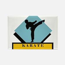 Karate Silhouette Emblem Rectangle Magnet
