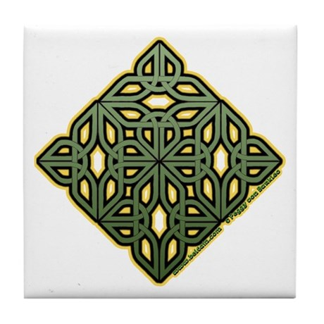 Saint Patrick's Shamrock Tile Coaster