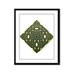Saint Patrick's Shamrock Framed Panel Print