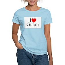 """""""I Love Guam"""" Women's Pink T-Shirt"""