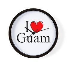 """""""I Love Guam"""" Wall Clock"""