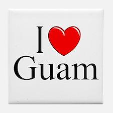 """""""I Love Guam"""" Tile Coaster"""