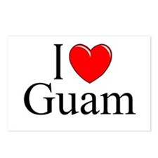 """I Love Guam"" Postcards (Package of 8)"