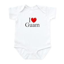 """""""I Love Guam"""" Onesie"""