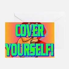 COVER YOURSELF(kids) Greeting Card