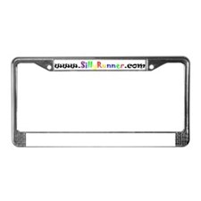 SillyRunner.com Black License Plate Frame