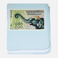 1958 Laos Elephant Eating Bamboo Postage Stamp bab