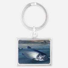 Early bite salmon Landscape Keychain