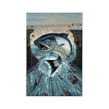 Salmon breaks Dam Rectangle Magnet