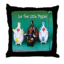 Los Tres Little Piggies Throw Pillow
