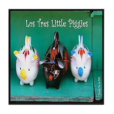 Los Tres Little Piggies Tile Coaster