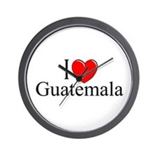 """I Love Guatemala"" Wall Clock"