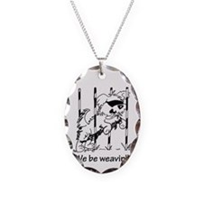 We be weavin'!!  Necklace Oval Charm
