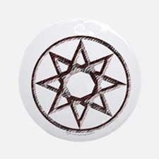 Octagram or 8 Pointed Star Ornament (Round)