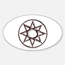 Octagram or 8 Pointed Star Oval Decal