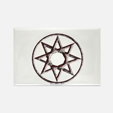 Octagram or 8 Pointed Star Rectangle Magnet