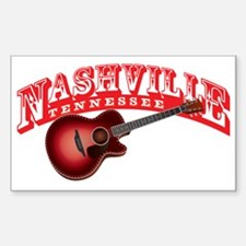 Nashville Guitar Decal