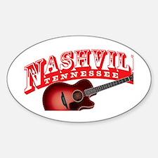 Nashville Guitar Sticker (Oval)